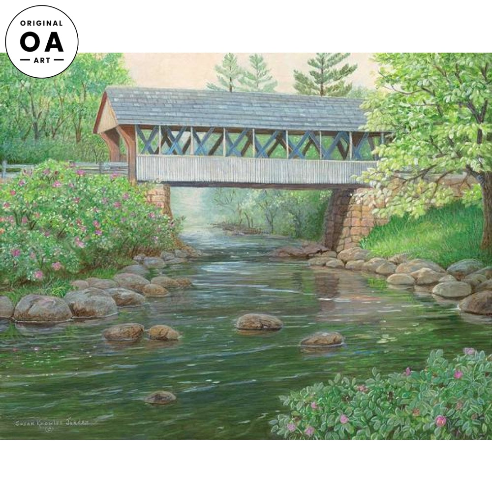 Copper Creek—Covered Bridge Original Artwork