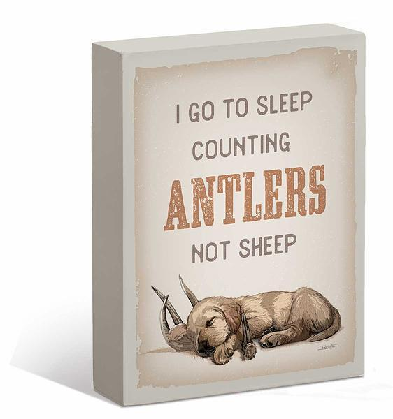 Counting Antlers 7 X 9 Box Art Sign