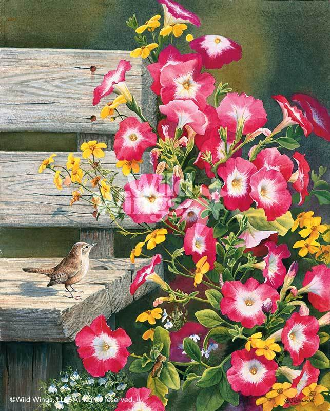 <I>Country Garden&mdash;wren</i> Limited Edition Print<Br/>18H X 14W Art Collection