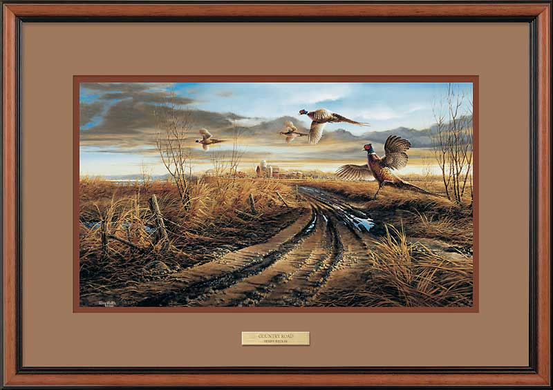 Country Road-Pheasants Art Collection