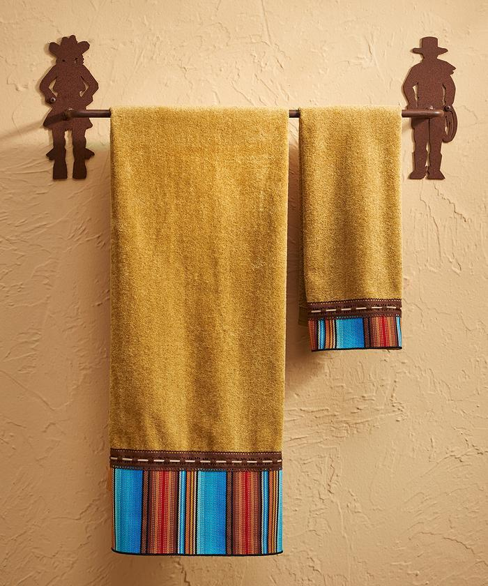 Cowboy Cowgirl Towel Bar