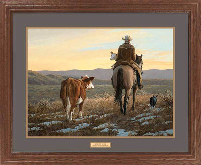 <I>Almost Home&mdash;cowboy</i> Gna Premium Framed Print<Br/>25H X 31W Art Collection