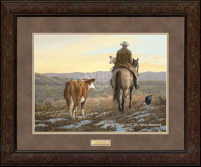 <I>Almost Home&mdash;cowboy</i> Gna Premium+ Framed Print<Br/>29H X 35W Art Collection