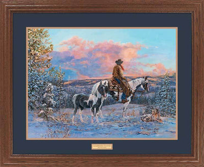 <I>Clearwater Country&mdash;cowboy</i> Gna Premium Framed Print<Br/>25H X 31W Art Collection