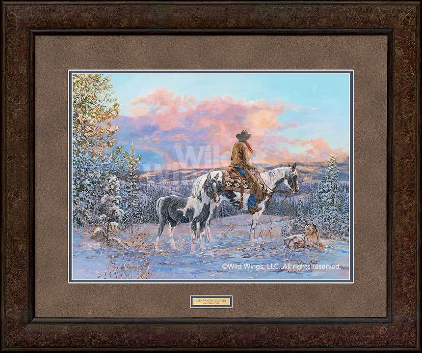 <I>Clearwater Country&mdash;cowboy</i> Gna Premium+ Framed Print<Br/>29H X 35W Art Collection