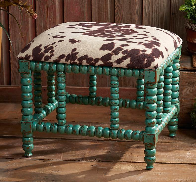Cowhide & Turquoise