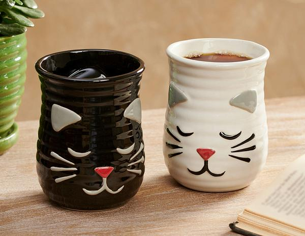 Cat Cozy Hand Mugs