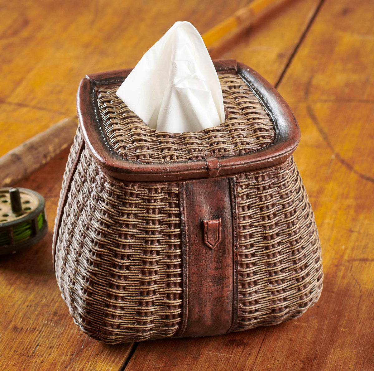 Creel Basket Tissue Box Cover