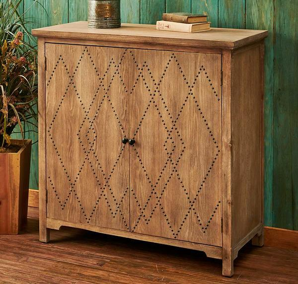 Nailhead Diamond Cabinet