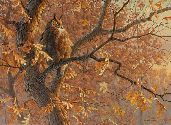 Dawn's Cloak—Great Horned Owl.