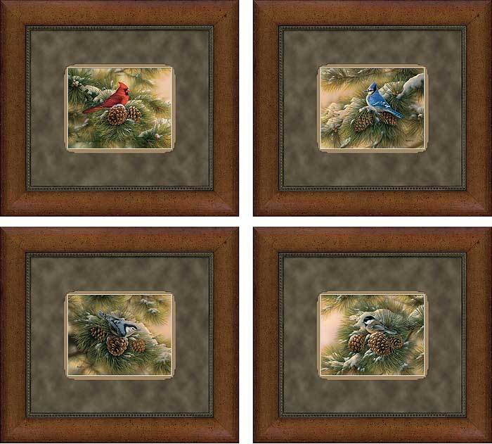 Set/4 Designer December Dawn Gna Deluxe Framed Print