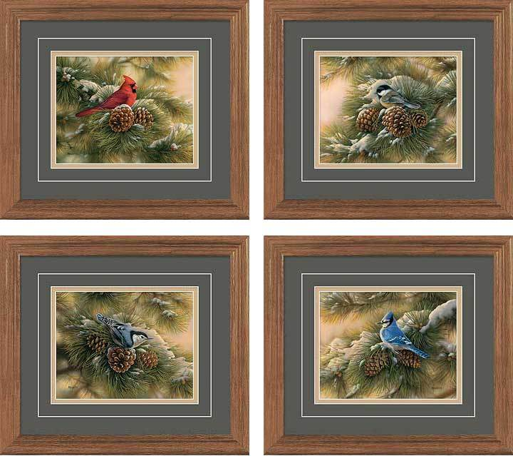 Set/4 Regular December Dawn Gna Deluxe Framed Print
