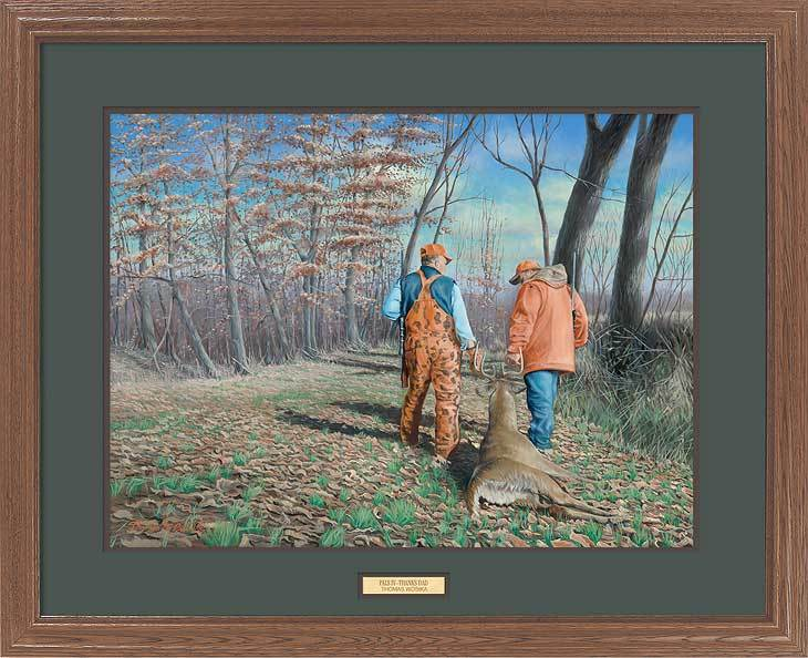 <I>Pals Iv; Thanks Dad&mdash;hunters</i> Gna Premium Framed Print<Br/>25H X 31W Art Collection