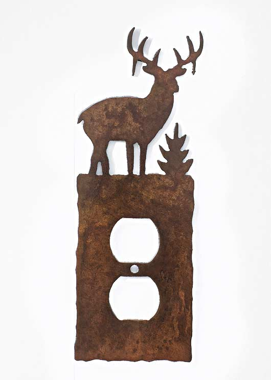Whitetail Deer Single Outlet Cover