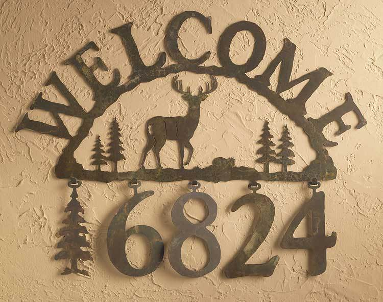 Deer Silhouette Address Plaque