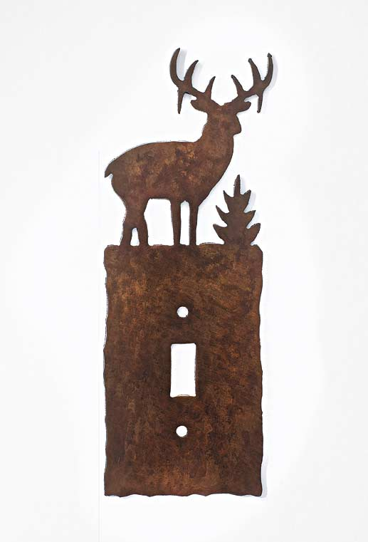 Whitetail Deer Single Switchplate