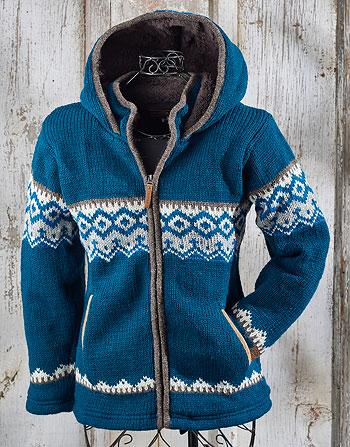 Diamond Turquoise Sweater Jacket