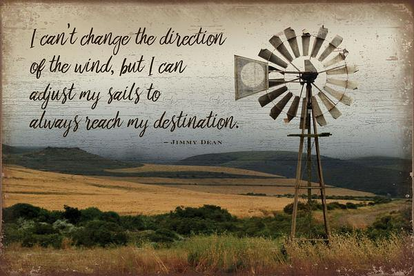 Direction—windmill 12 X 18 Wood Sign