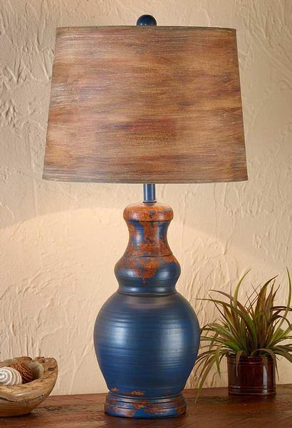 Rustic Blue Table Lamp