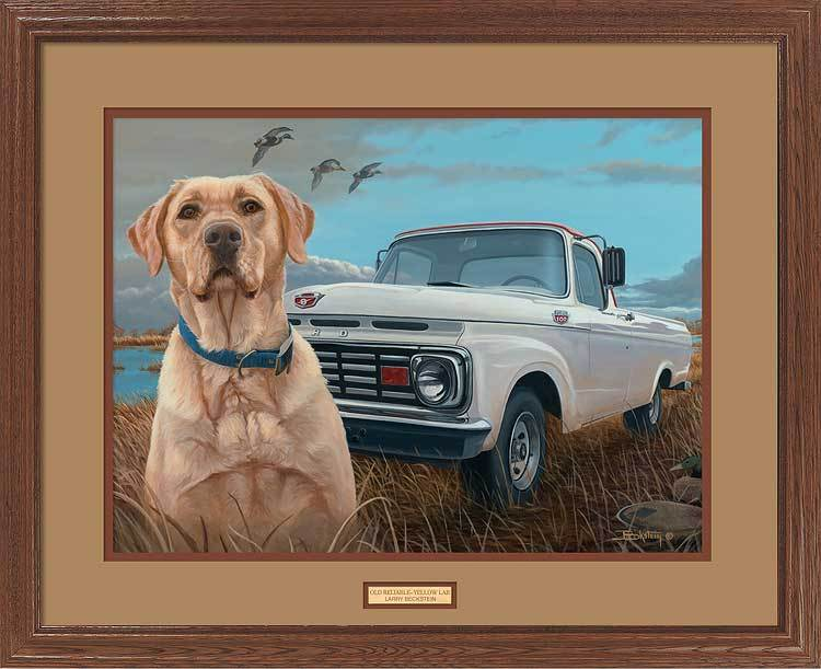 <I>Old Reliable&mdash;yellow Lab</i> Gna Premium Framed Print<Br/>25H X 31W Art Collection