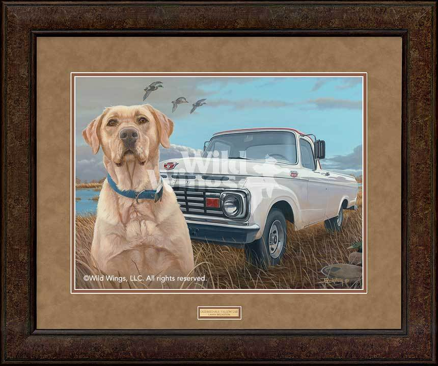 <I>Old Reliable&mdash;yellow Lab</i> Gna Premium+ Framed Print<Br/>29H X 35W Art Collection