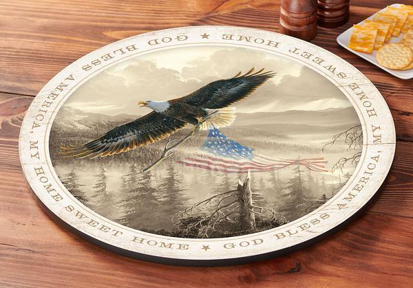Rebuilding America—eagle Lazy Susan Turntable
