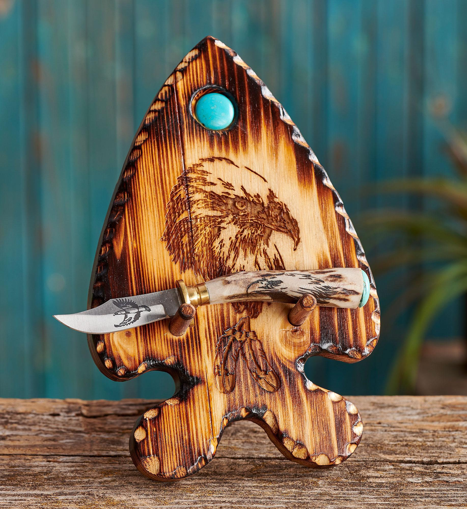 Eagle Knife and Holder