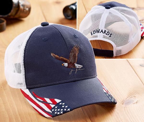 <I>Stars And Stripes Eagle</i> Personalized Cap