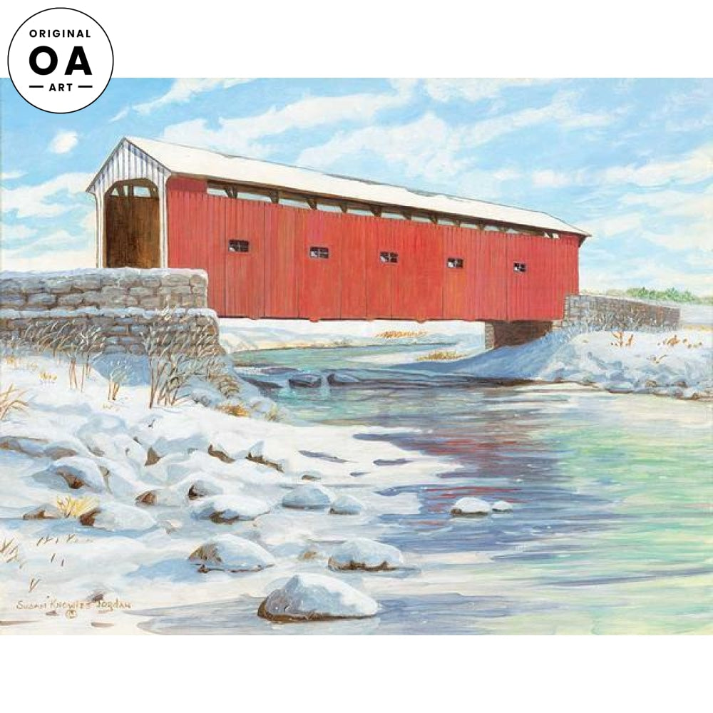 East Creek—Covered Bridge Original Artwork