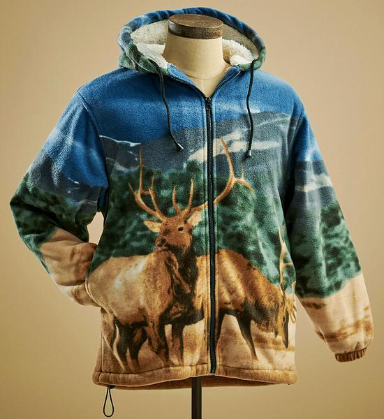 Elk Plush Fleece Jacket