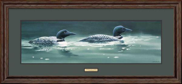 <I>Emerald Lake&mdash;loons</i> Framed Limited Edition Print<Br/>20H X 43W Art Collection
