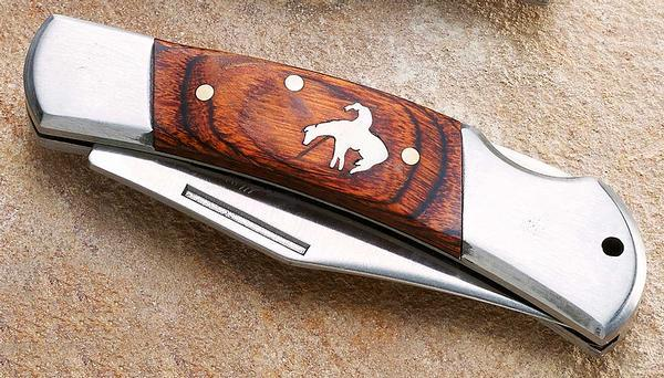 End Of The Trail—cowboy And Horse Pocket Knife