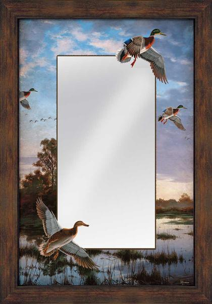 <I>Evening Flight</i> Large Decorative Mirror