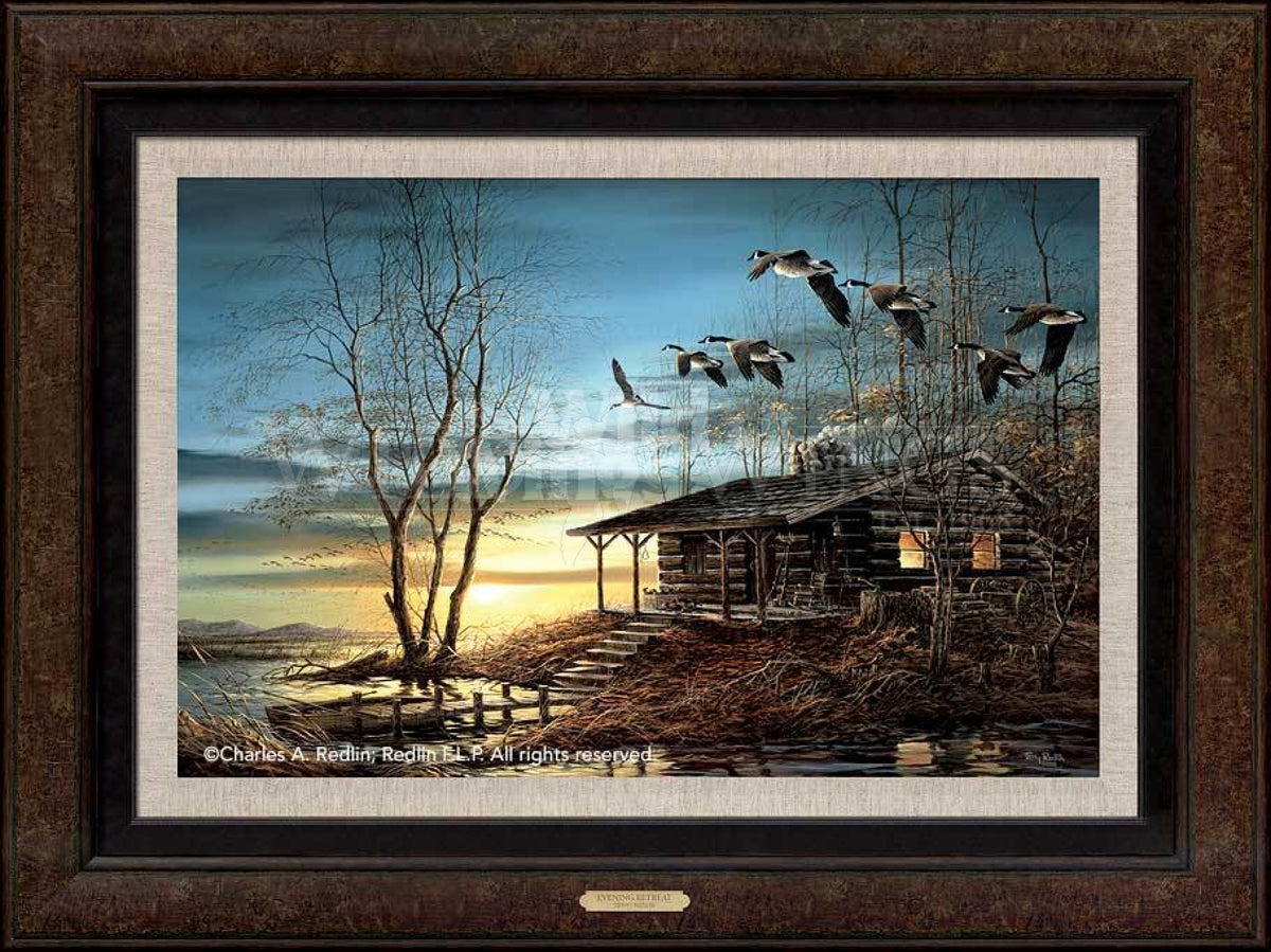 <I>Evening Retreat</i> Framed Legacy Canvas<Br/>26H X 36W Art Collection
