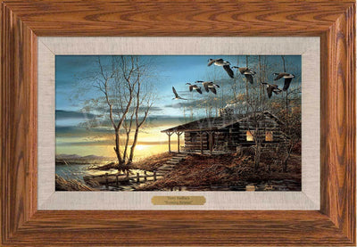 <I>Evening Retreat</i> Framed Oak Master Stroke<Br/>13.5H X 19.25W Art Collection