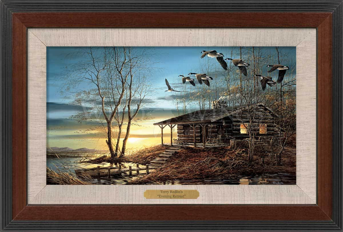 <I>Evening Retreat</i> Framed Walnut Master Stroke<Br/>13H X 19W Art Collection