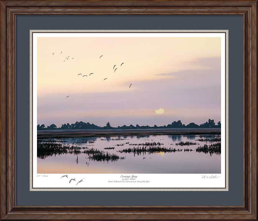 Evening Sprig&mdash;pintails Framed Artist Proof Print<Br/>27.5H X 32.25W Art Collection