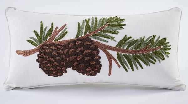 Pinecone Branch Pillow