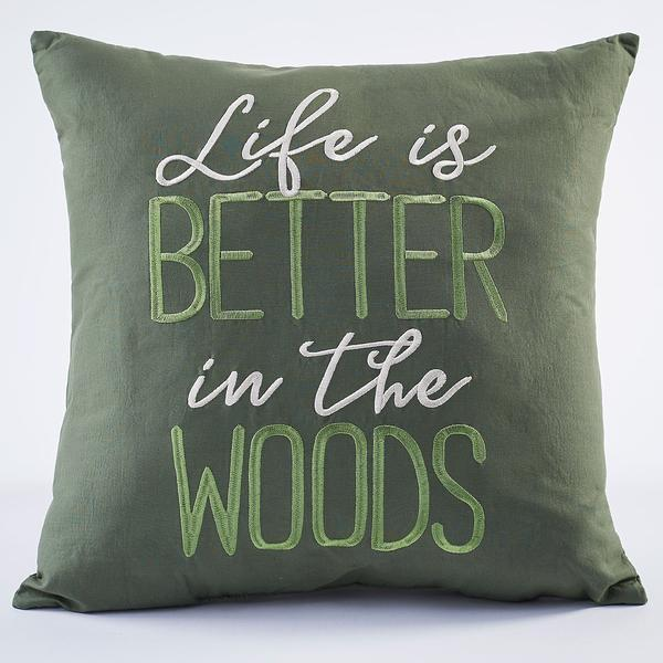Better In The Woods Pillow