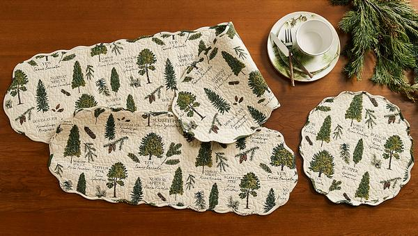 Evergreens Table Linen Collection