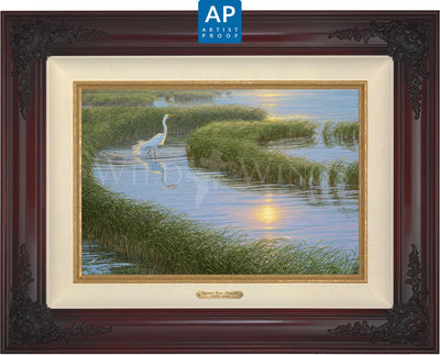 Evening Solitude—White Egret;  Master Artisan Collection — Artist Proof Edition (AP)