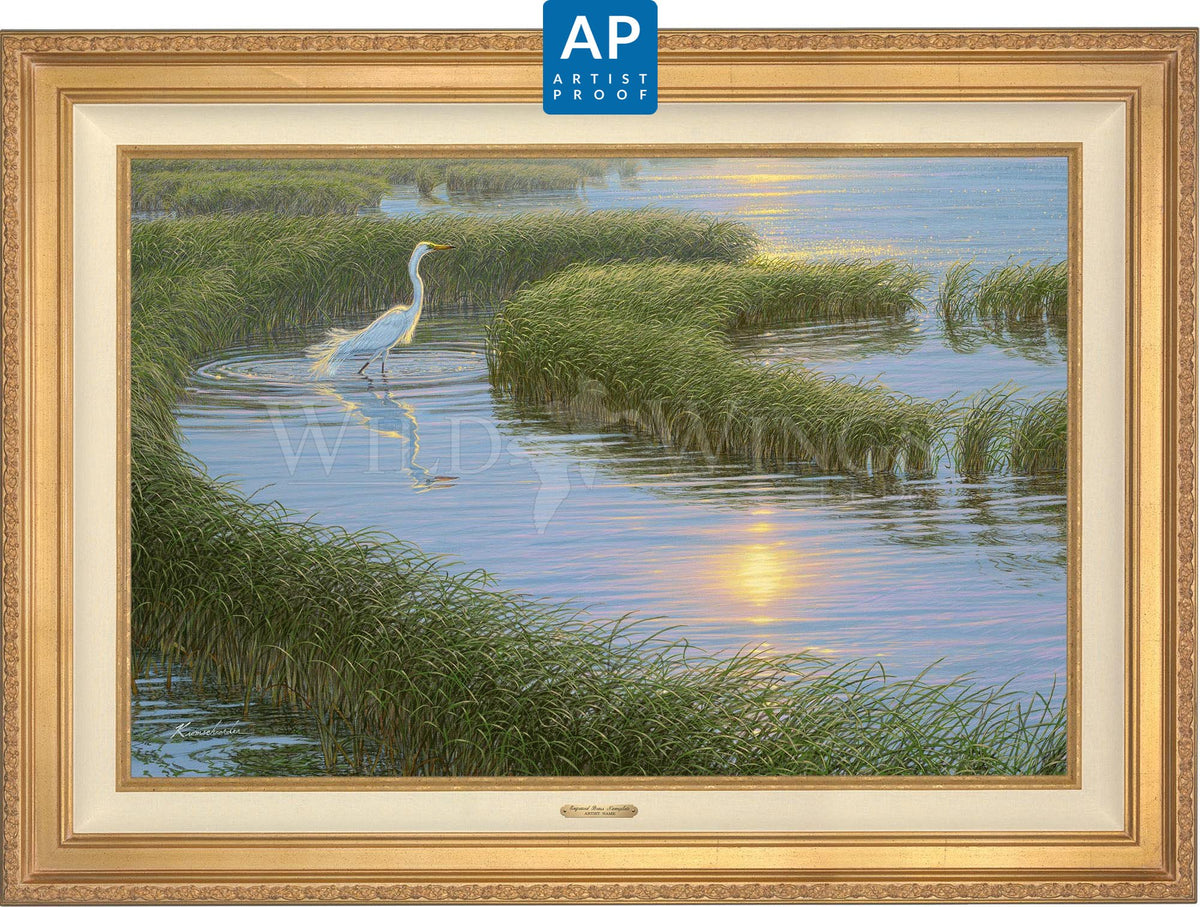 Evening Solitude—White Egret;  Master Artisan Collection — Artist Proof Edition (AP).