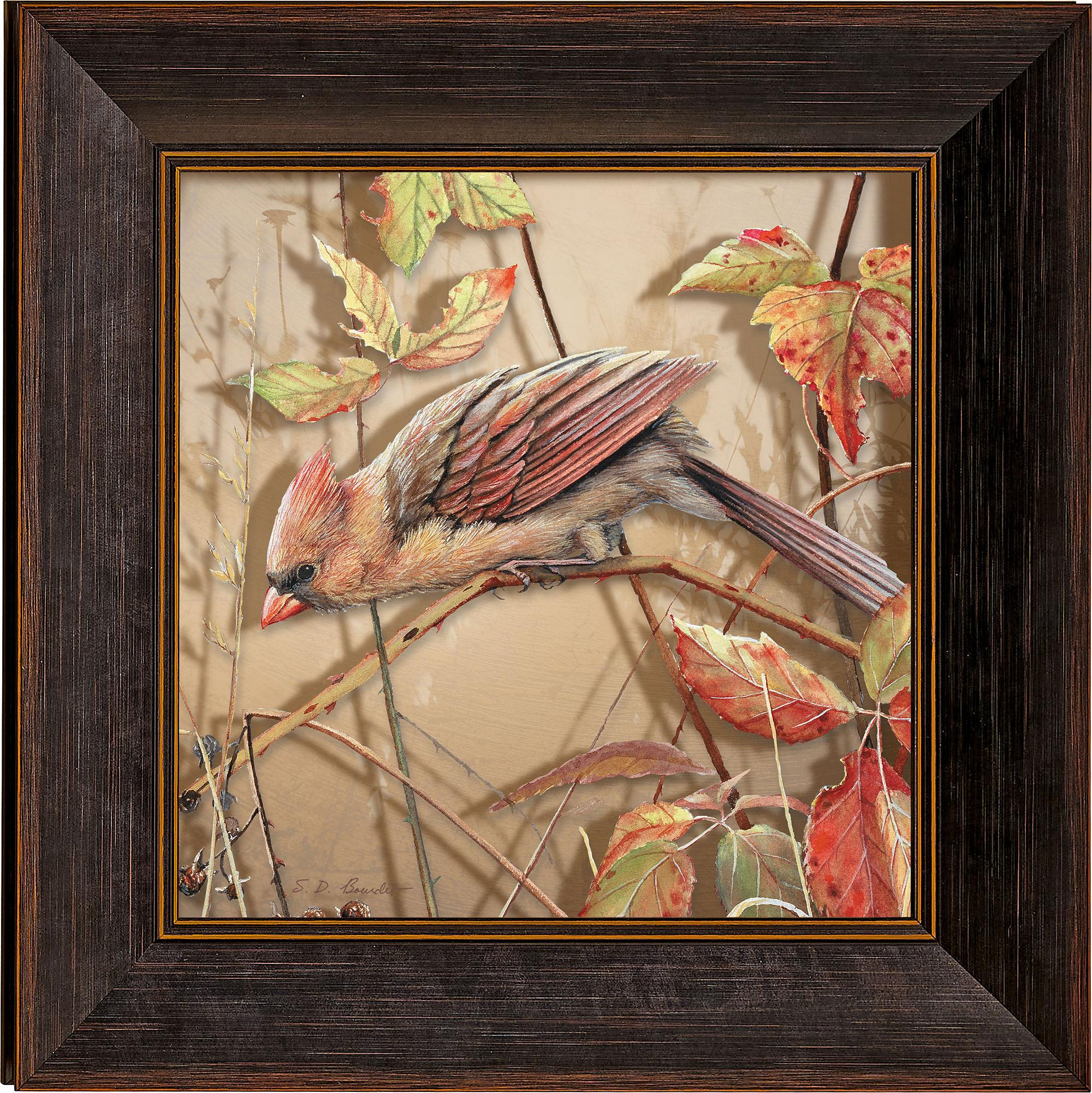 Fall Brilliance-Female Cardinal Art Collection