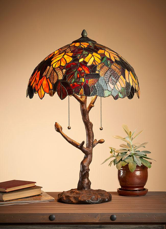 Fall Foliage Table Lamp