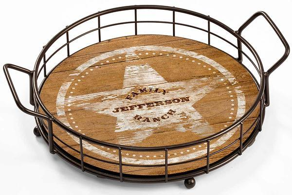 Family Ranch Personalized Serving Tray