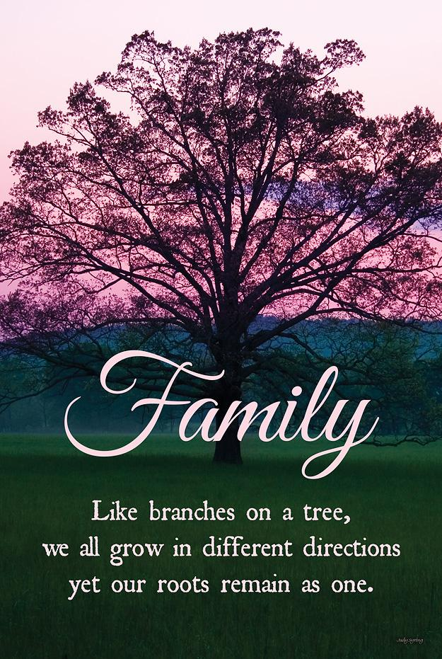 Family—Tree in Spring.