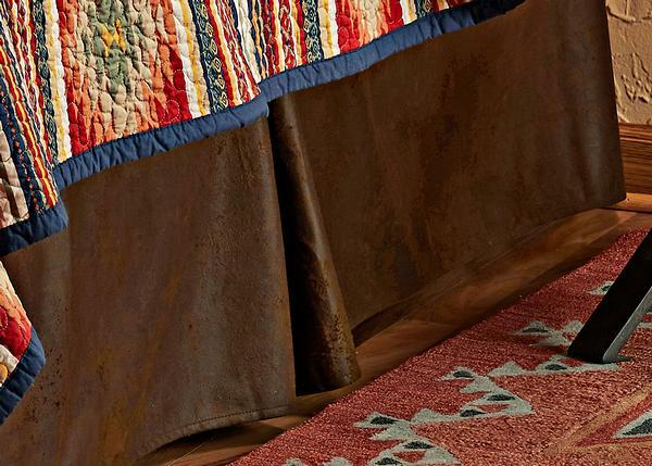Faux Suede Brown Bedskirt