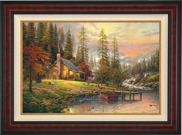 <I>A Peaceful Retreat</i> Framed Limited Edition Canvas (Sn)<Br/>40H X 54W Art Collection