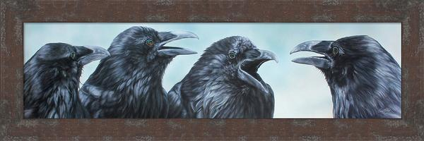 Conspiracy Theory&mdash;ravens Framed Limited Edition Canvas<Br/>12.75H X 38.25W Art