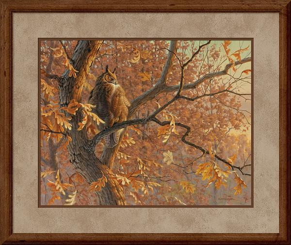 Dawn's Cloak-Great Horned Owl Art Collection